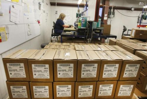 Boxes of 300 AAC Blackout rounds sit waiting to be shipped at Barnes Bullets in Mona, Utah, January 6, 2016. REUTERS/George Frey