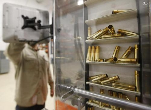 Cartridges make their way up a conveyor belt to be assembled into a .308 caliber round at Barnes Bullets in Mona, Utah, January 6, 2016. REUTERS/George Frey
