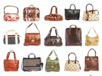 Ladies' handbag on a white background