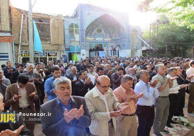 برگزاری نماز عید فطرت و بندگی در بام ایران با حضور چشمگیر مردم/ تصاویر