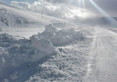 بارش کم سابقه برف در فریدونشهر/ مدارس تعطیل شدند