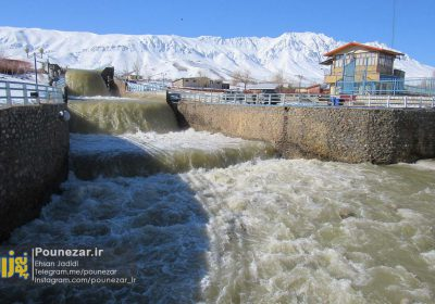 جلوه زیبای ذوب شدن برفها در ذخیرهگاه آبی استان اصفهان/ تصاویر
